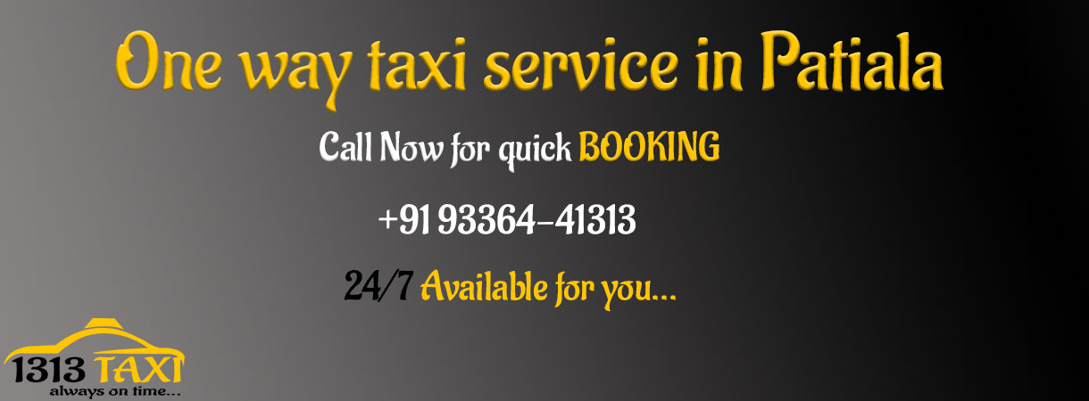 One way taxi service in Patiala